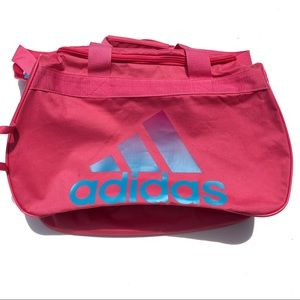 Pink adidas gym Duffle bag